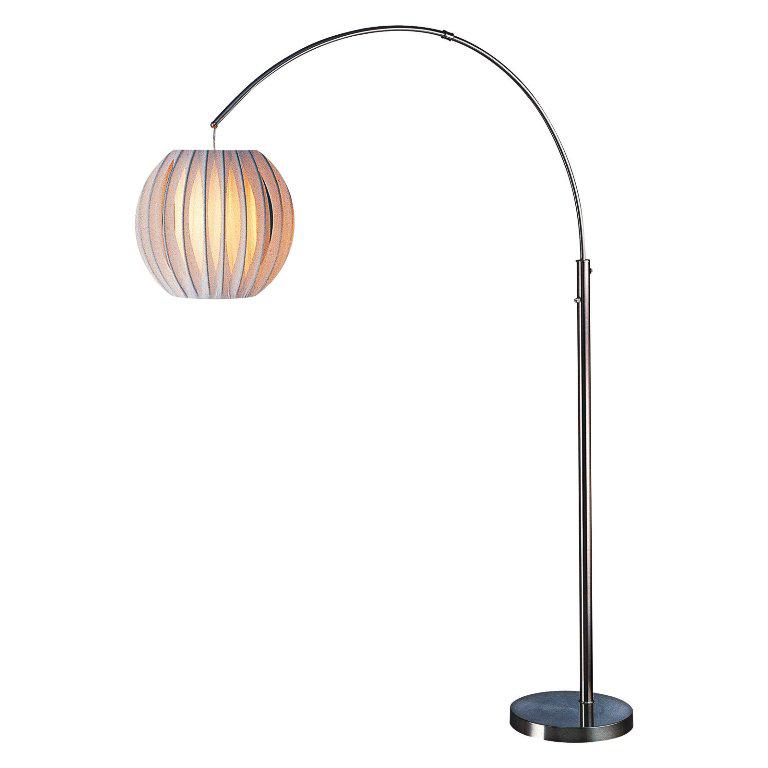 Image of: White Arch Floor Lamp