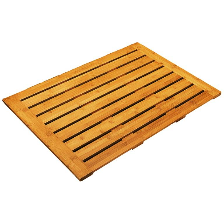 Image of: Wood Bath Mat