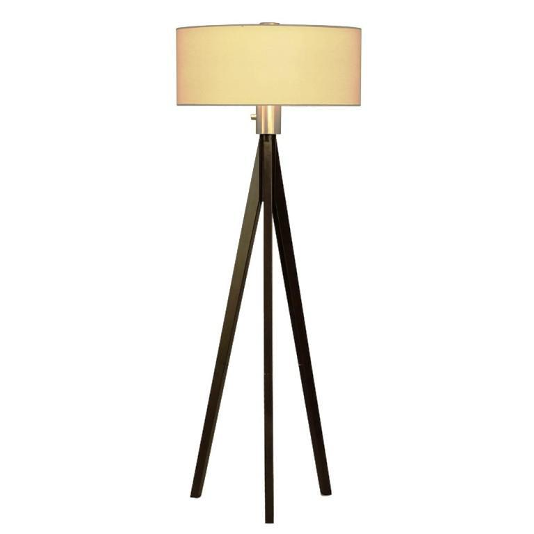 Image of: Wooden Tripod Floor Lamp