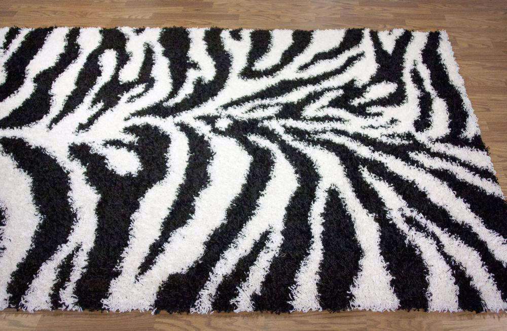 Image of: Zebra Print Carpet