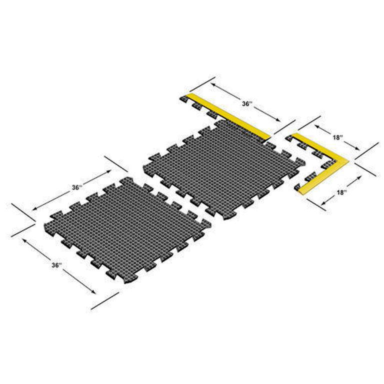 Image of: Anti Fatigue Rubber Flat Mat