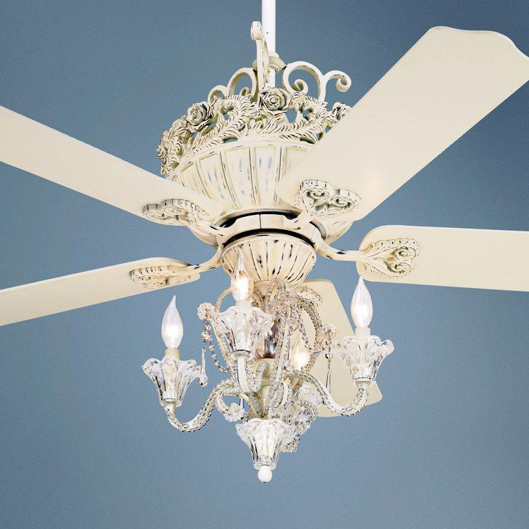Image of: Aesthetic Ceiling Fan with Chandelier Light Kit