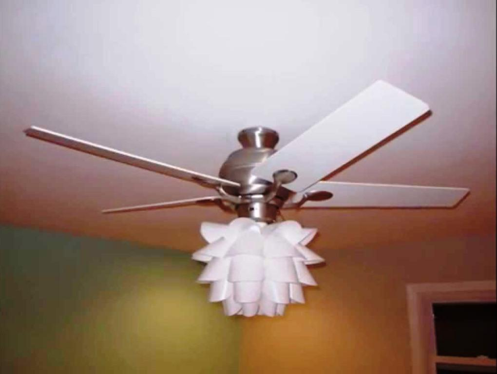 Image of: Aesthetic Chandelier Ceiling Fan Light Kit