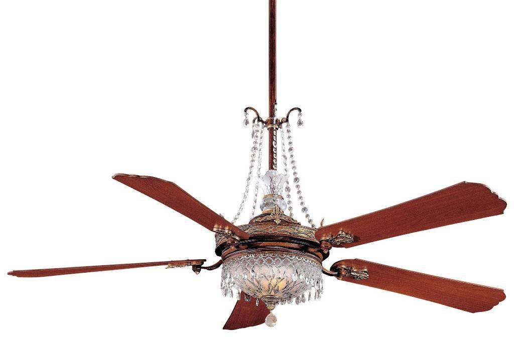 Image of: AestheticCrystal Chandelier Ceiling Fan