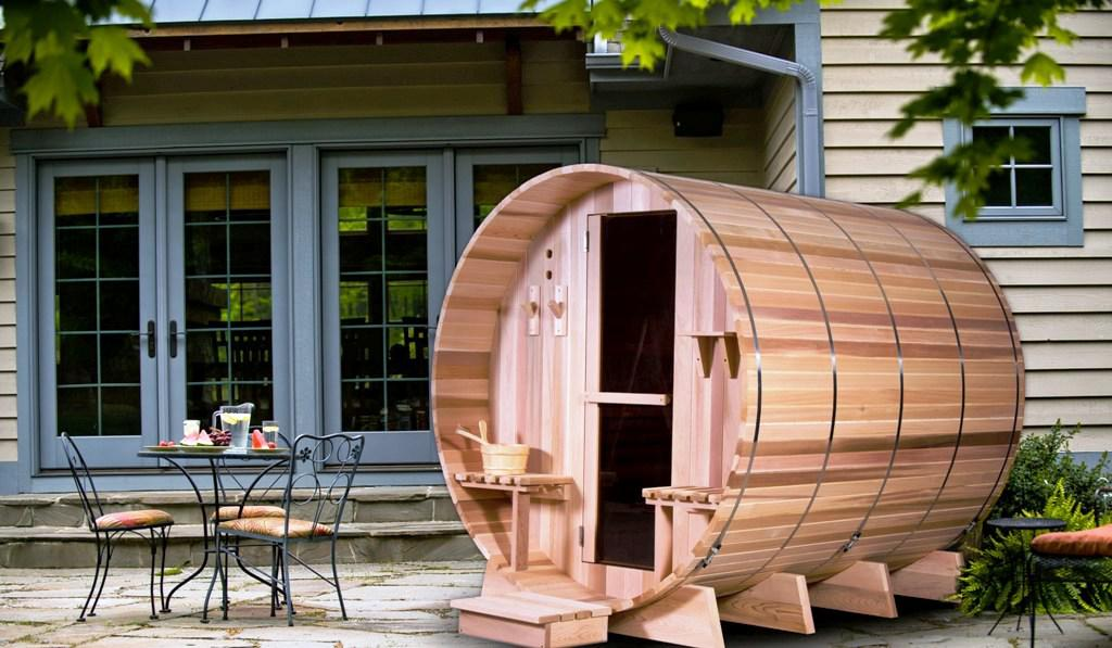 Image of: Barrel Sauna For Sale