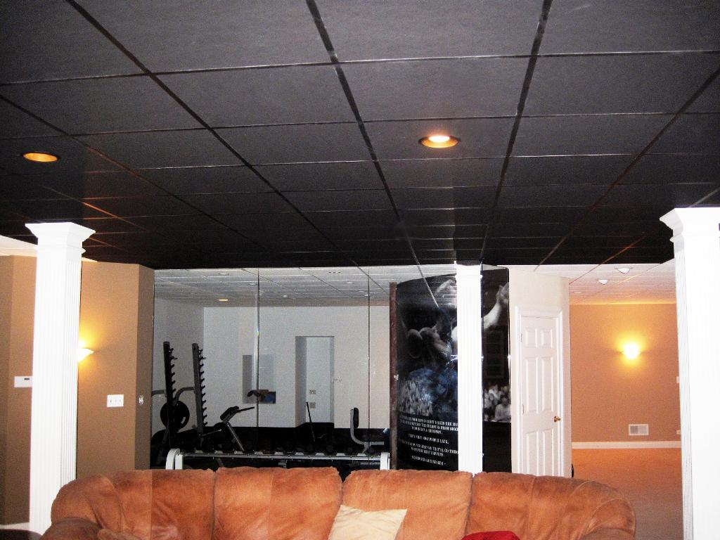 Image of: Black Acoustic Ceiling Tiles