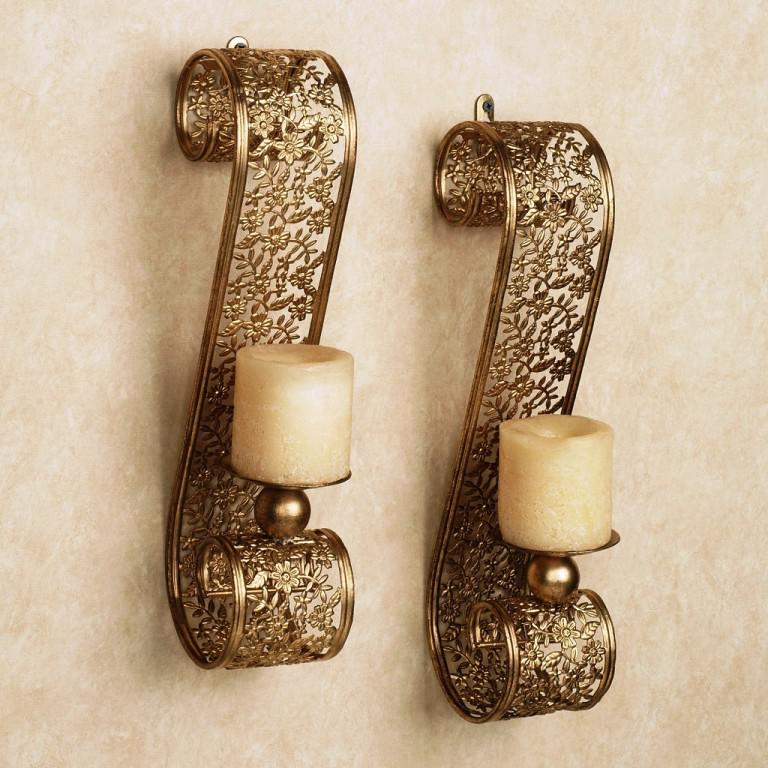 Image of: Brass Candle Wall Sconces