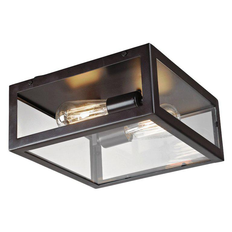 Image of: Bronze Flush Mount Ceiling Light