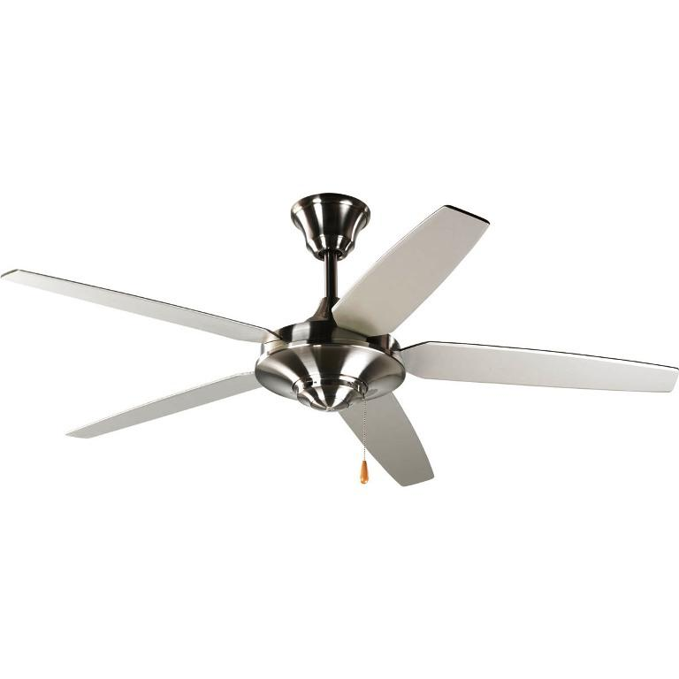 Image of: Brushed Nickel Ceiling Fan without Light