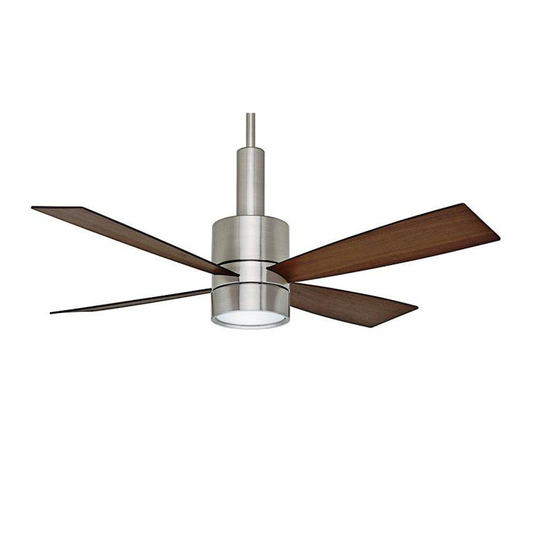 Image of: Brushed Nickel Ceiling Fans with Lights