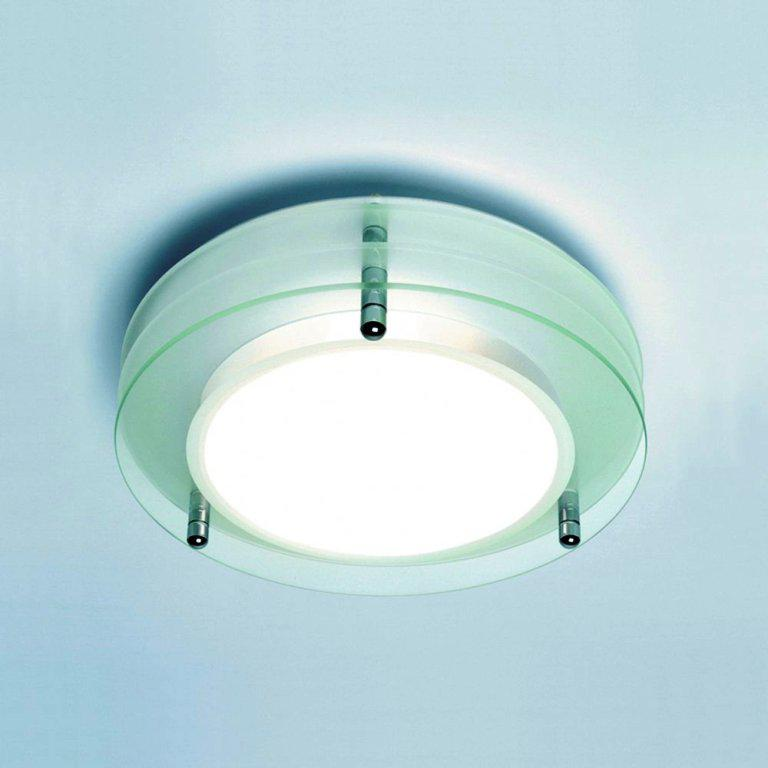 Image of: Ceiling Mounted Bathroom Light Fixtures