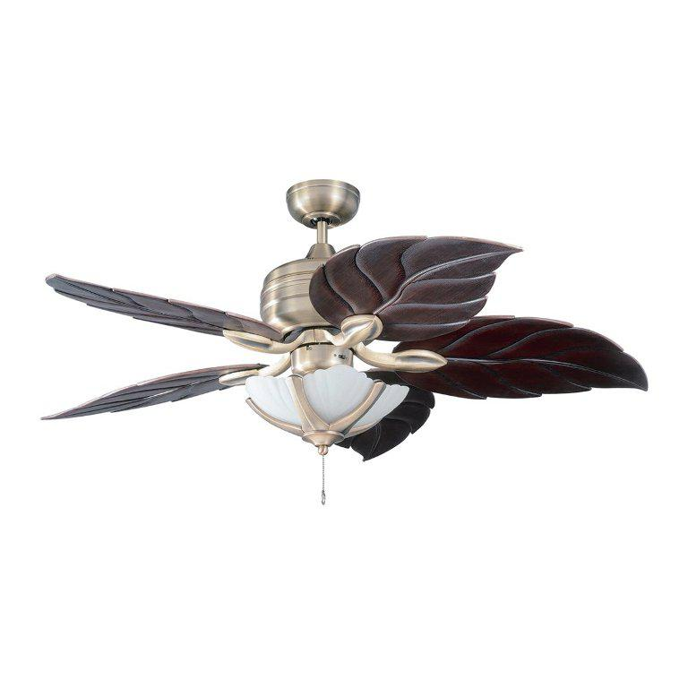 Image of: Crystal Chandelier Ceiling Fan Combo
