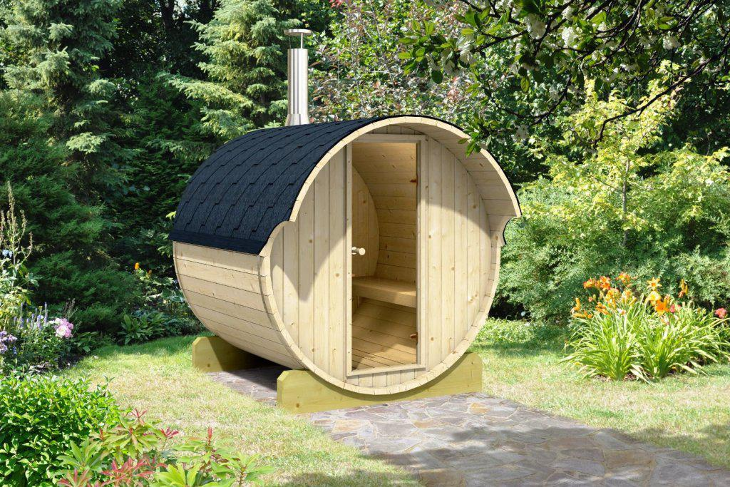 Image of: DIY Barrel Sauna
