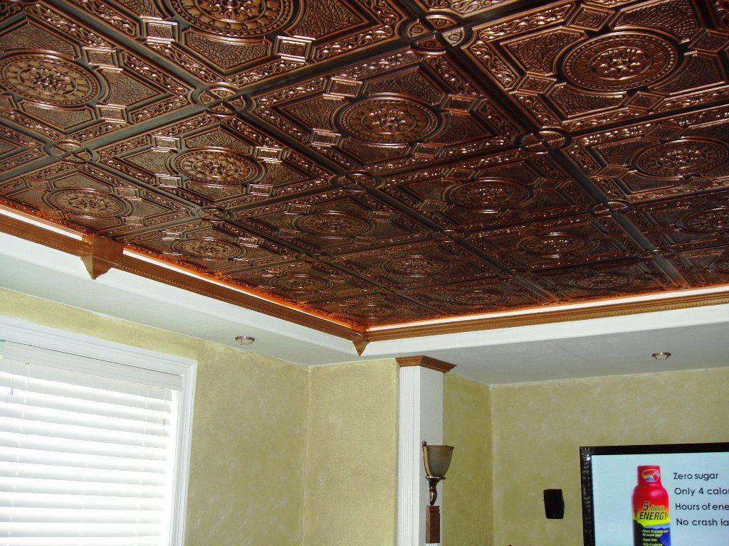 Image of: Faux Tin Ceiling Tile