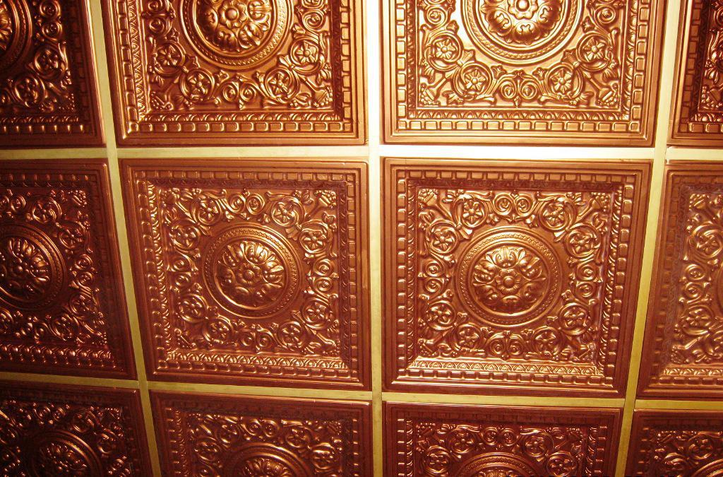 Image of: Faux Tin Ceiling Tiles Home Depot