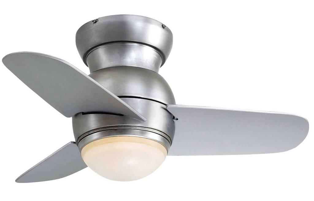 Image of: Flush Mount Ceiling Fans Low Profile