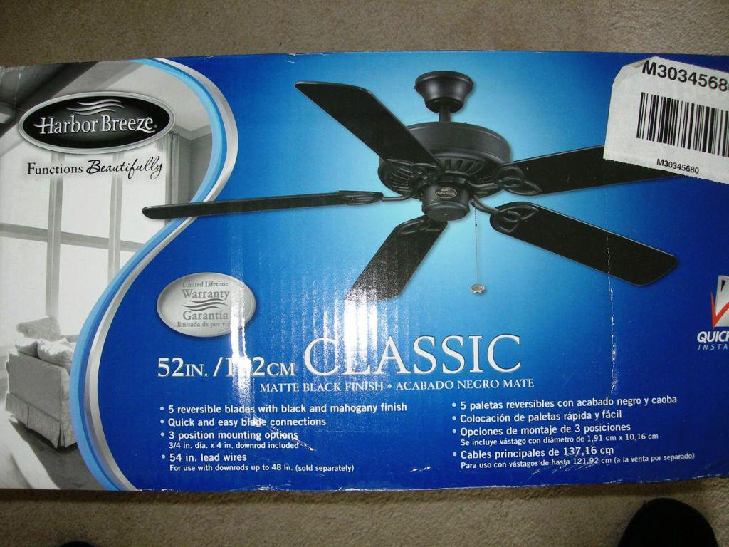 Image of: Harbor Breeze 52 Inch Ceiling Fan