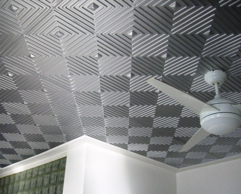 Image of: How to Install Faux Tin Ceiling Tiles
