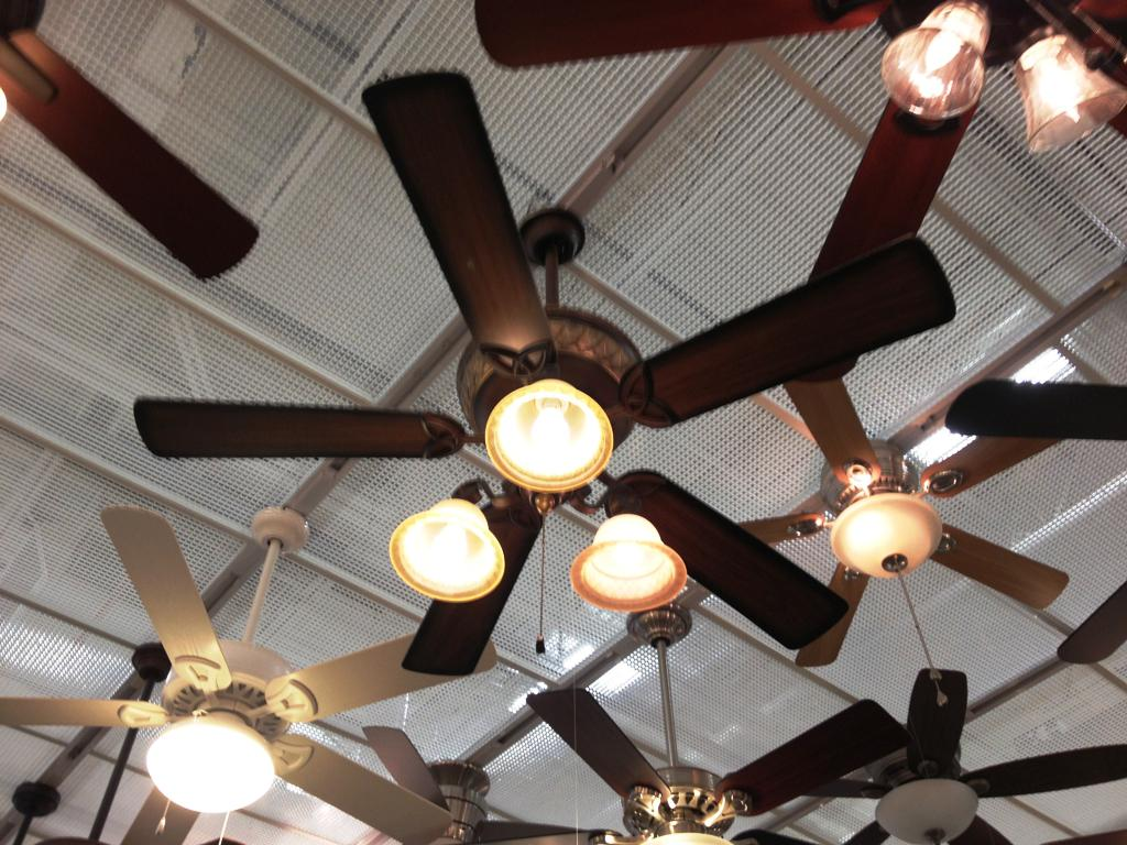 Image of: Industrial Ceiling Fan With Light