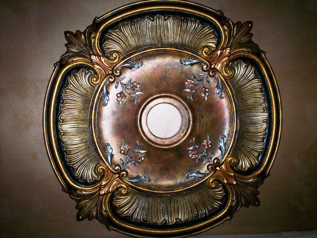 Image of: Metal Ceiling Medallion