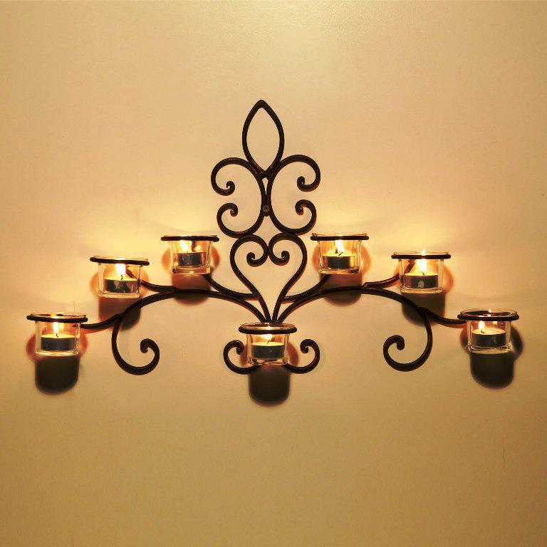 Image of: Outdoor Candle Sconces Wall