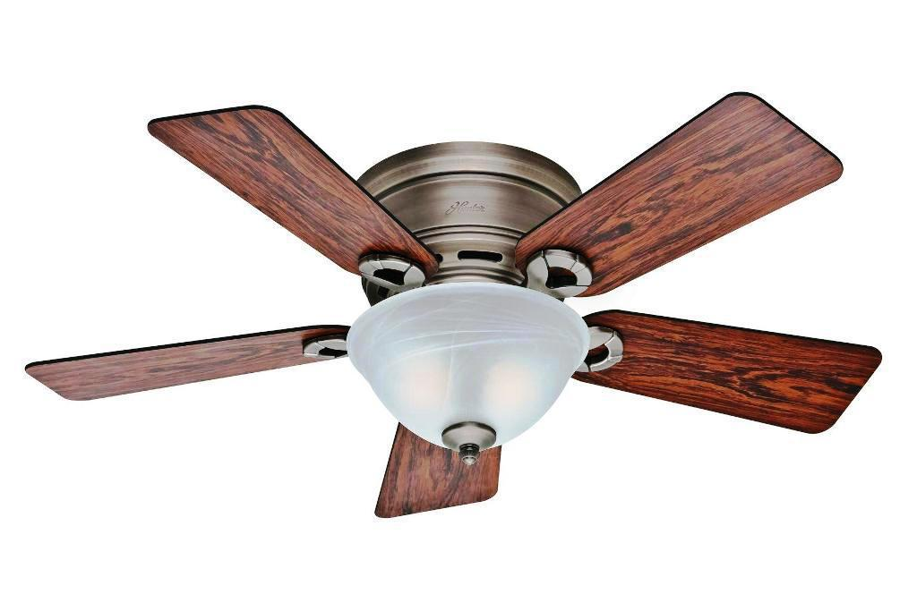Image of: Outdoor Flush Mount Ceiling Fan