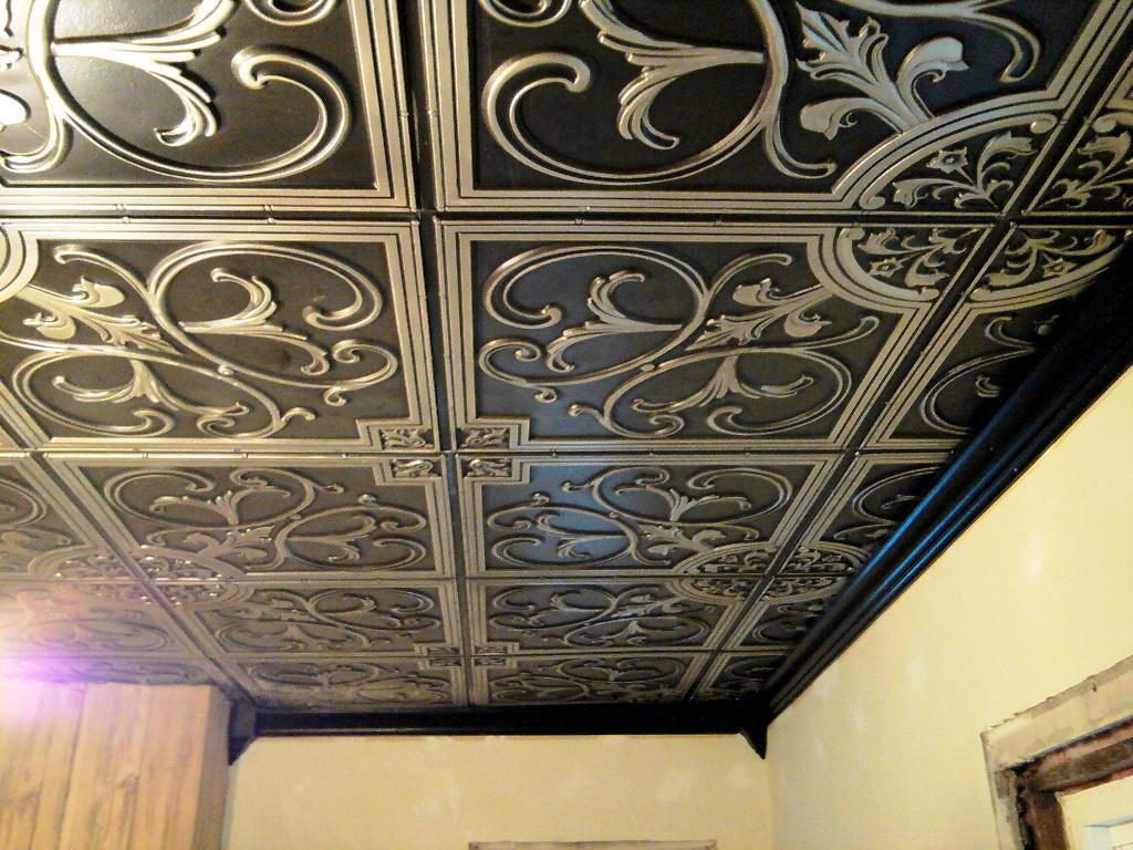 Image of: Plastic Faux Tin Ceiling Tiles