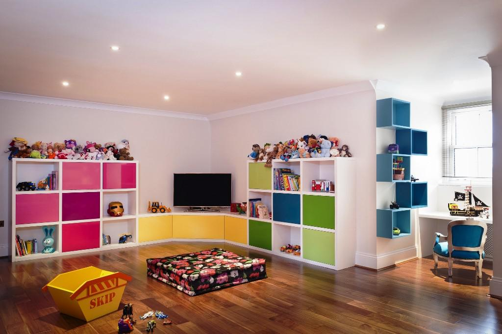 Image of: Playroom Storage Furniture