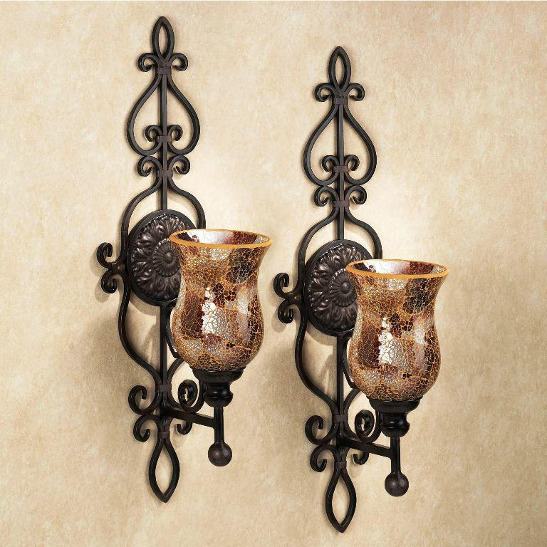 Image of: Rustic Candle Wall Sconces