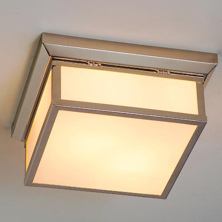 Image of: Square Flush Mount Ceiling Light