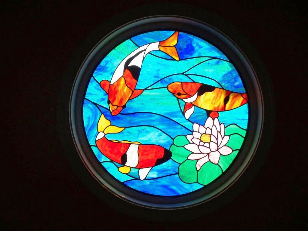 Image of: Stained Glass Transom Window Patterns
