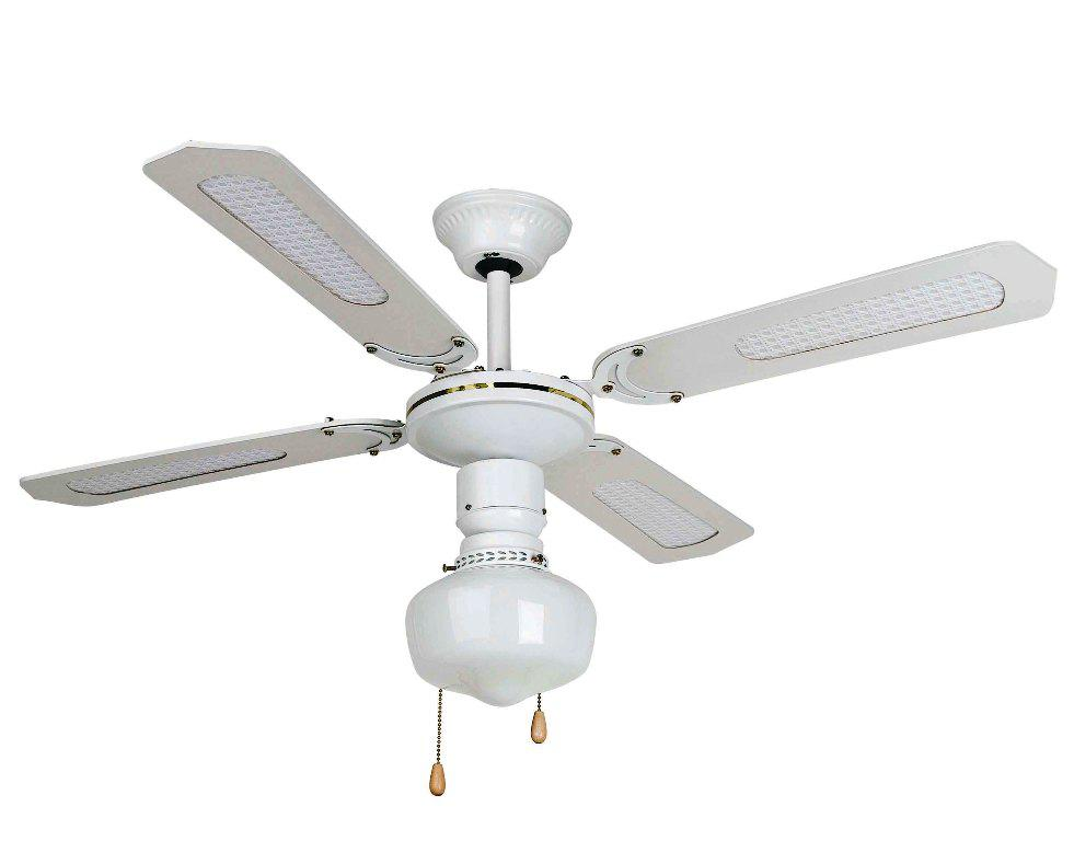 Image of: White Vintage Ceiling Fans