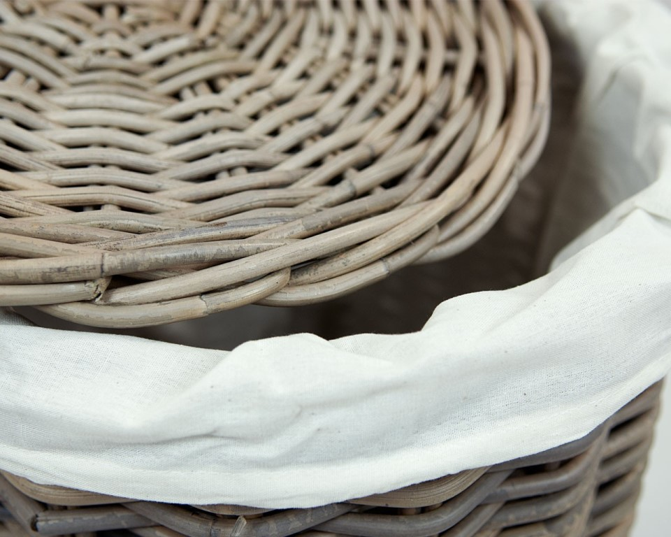 Image of: animal wicker laundry basket