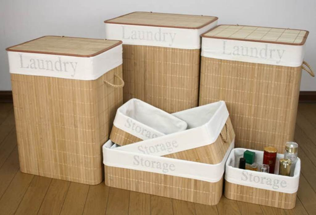 Image of: Bamboo Laundry Hamper Plan