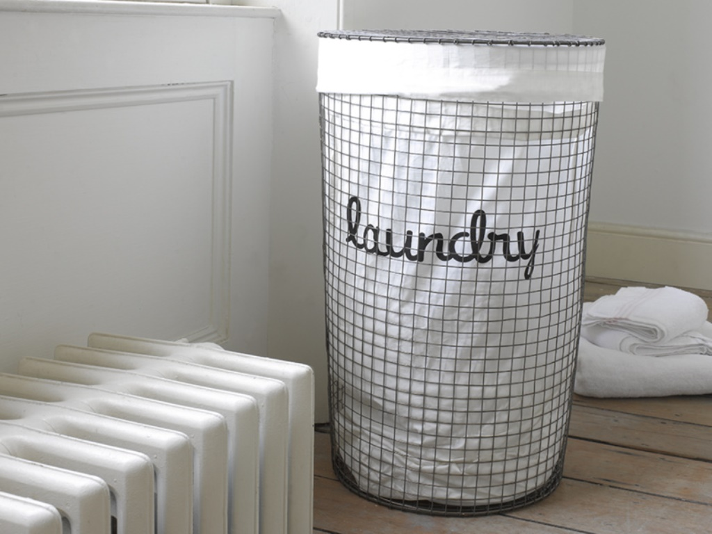 Image of: Black Wire Laundry Hamper