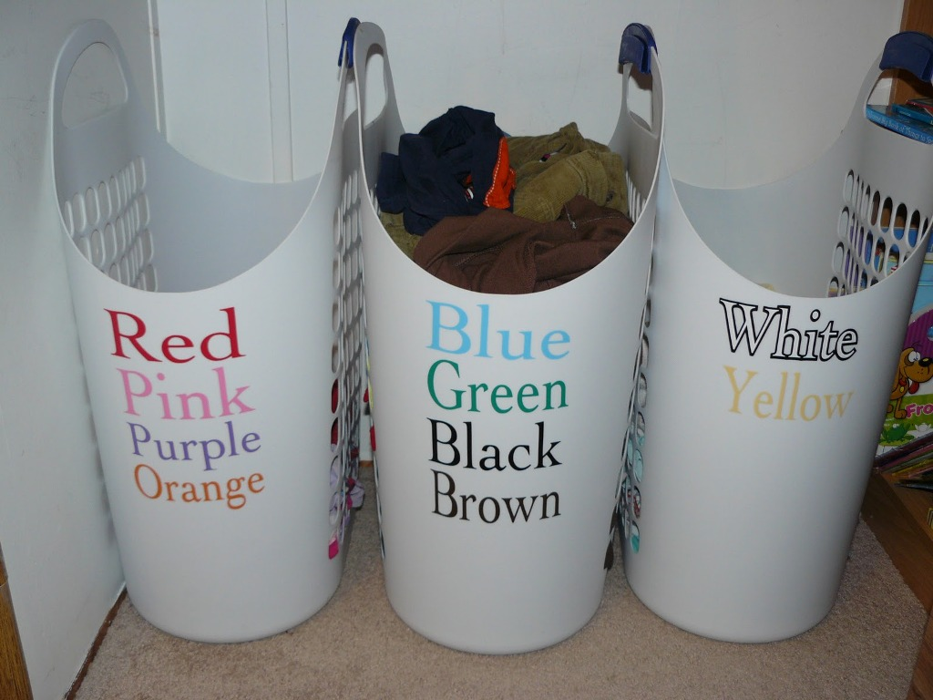 Image of: Brown Triple Laundry Sorter