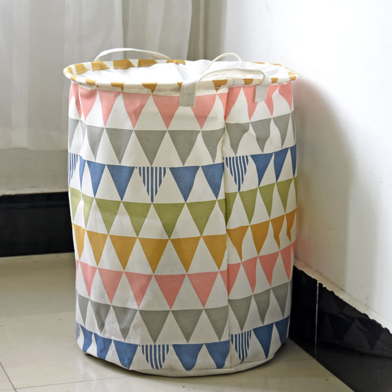 Image of: colorful large laundry hamper