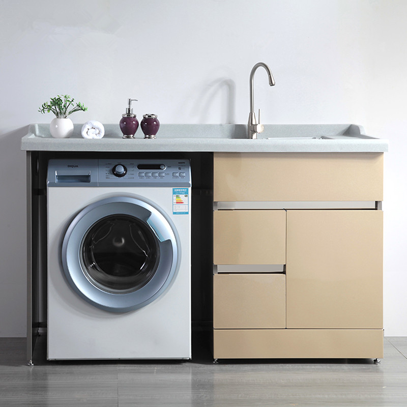 Image of: Contemporary Stainless Steel Laundry Sink