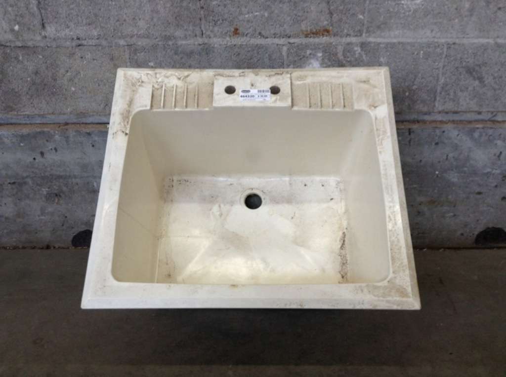 Image of: Drop In Laundry Sink Cabinet