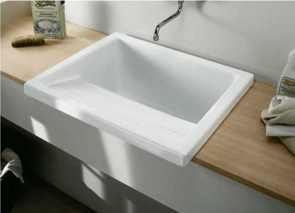 Image of: Drop In Laundry Sink With Cabinet