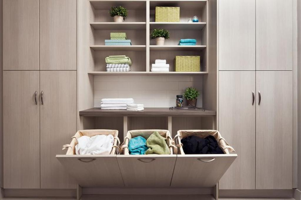 Image of: Easy Home Triple Laundry Sorter