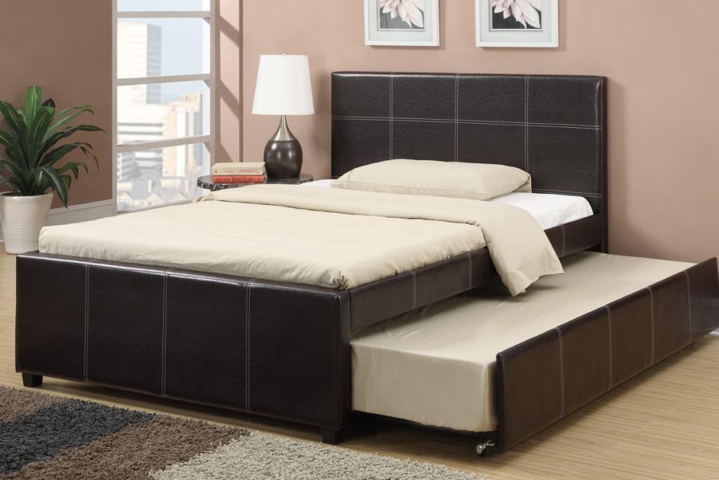 Image of: full size trundle bed frame with pop up