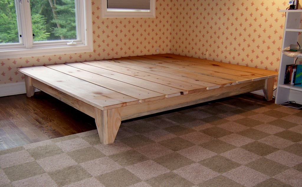 Image of: full size wood bed frame king