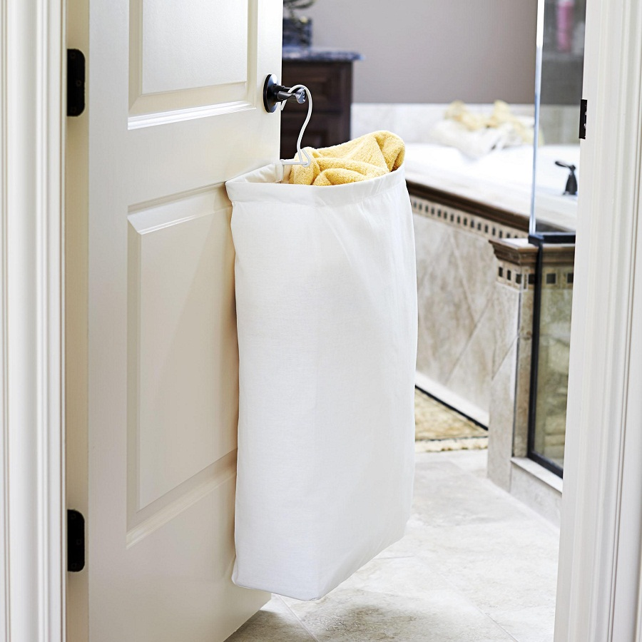 Image of: Hanging Narrow Laundry Hamper