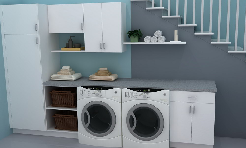 Image of: Ikea Laundry Room Storage