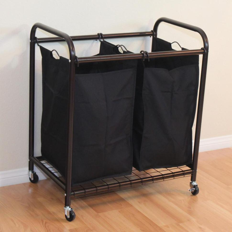 Image of: Laundry Cart On Wheels Ideas