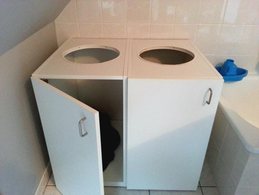 Image of: Laundry Hamper Cabinet Ideas