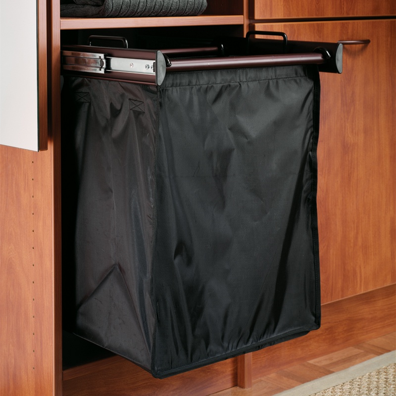 Image of: Laundry Hamper Cabinet Pull Out Black