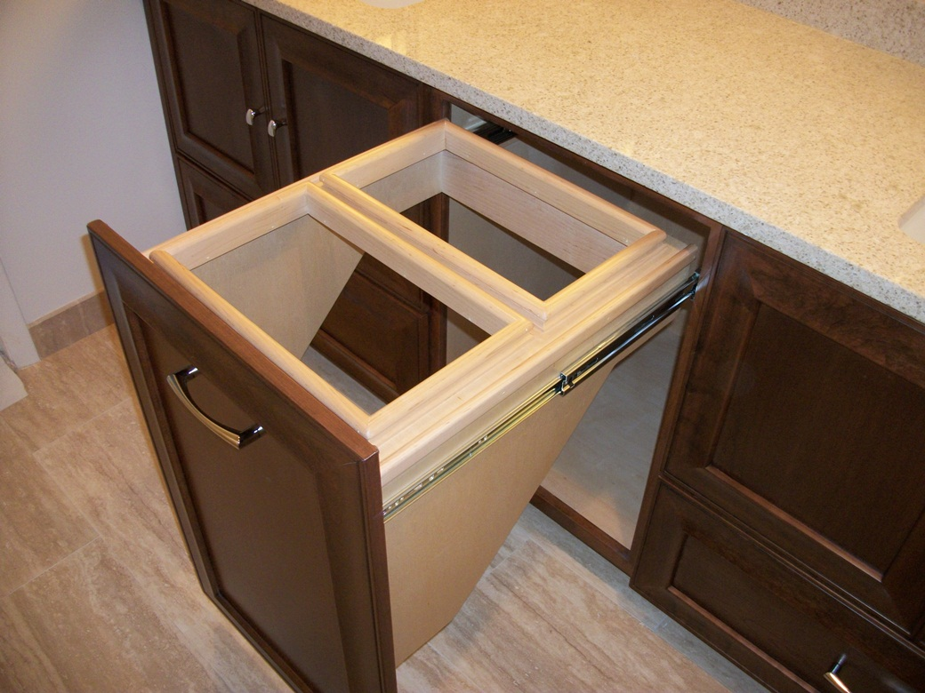 Image of: Laundry Hamper Cabinet Pull Out