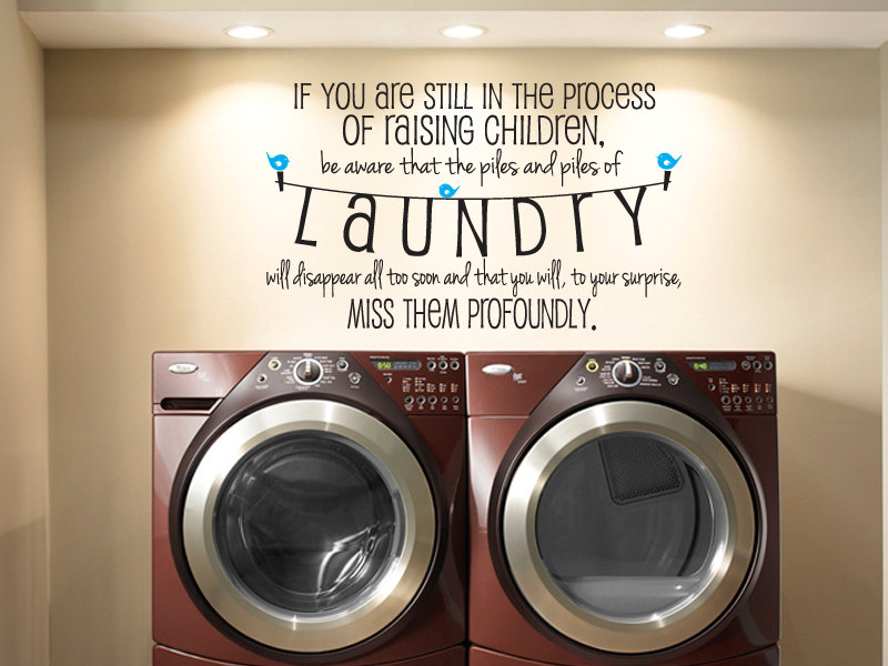 Image of: Laundry Room Decals Quotes Wall
